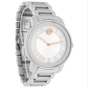 Rose Gold+ Silver Movado Watch(Authentic)